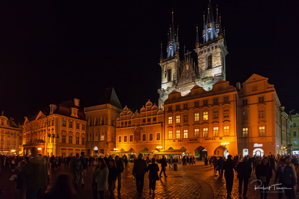 Fairy Tale Týn Cathedral after Dark