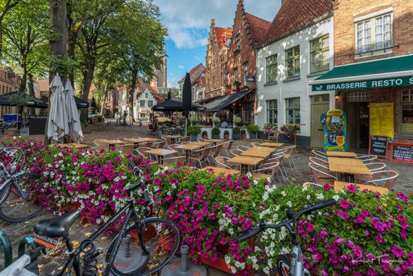 Cafe Scene in Bruges