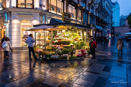 Nightime in Old Town Vienna