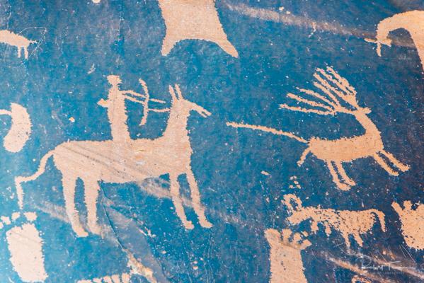 Petroglyphs at Newspaper Rock State Park